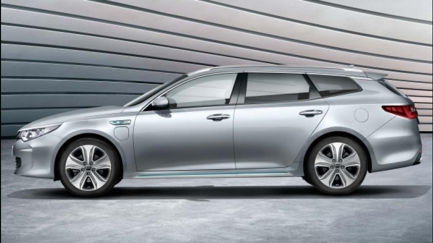 Kia Optima Sportswagon PHEV, l'ibrido plug-in arriva sulla wagon