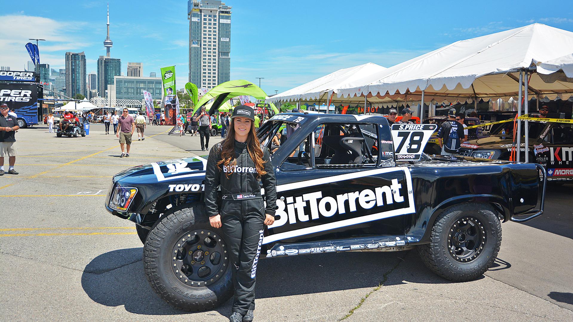 Honda Indy Toronto >> BitTorrent-sponsored female racer rocks Stadium Super Trucks in Toronto