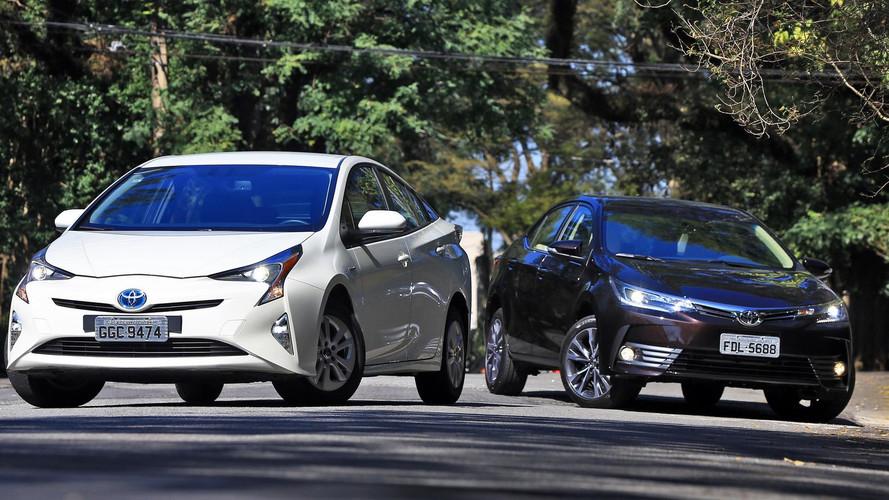 Comparativo Toyota Corolla Altis x Toyota Prius - Sou você amanhã
