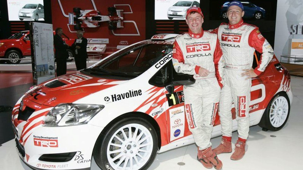 New Toyota Corolla S2000 Rally Car at Melbourne