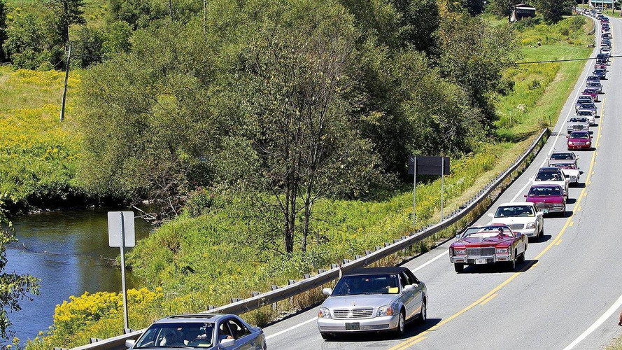 Record-setting parade of Cadillacs in Vermont honors brand's founder