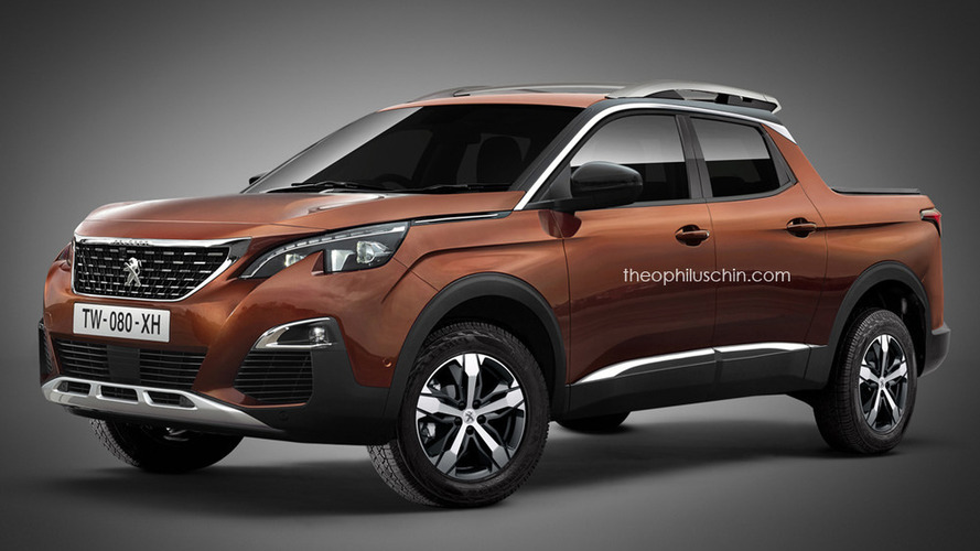 Future PSA pickup imagined with Peugeot badge