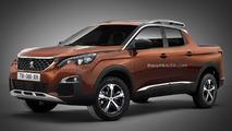 Le prochain pick-up PSA imaginé avec un badge Peugeot