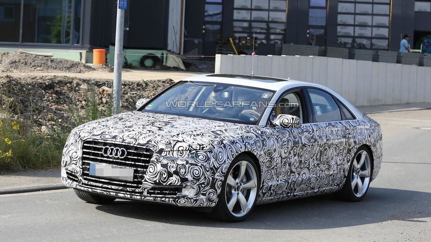 2014 Audi A8 facelift returns in new spy photos