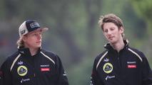 Kimi Raikkonen with Romain Grosjean 13.04.2012 Chinese Grand Prix