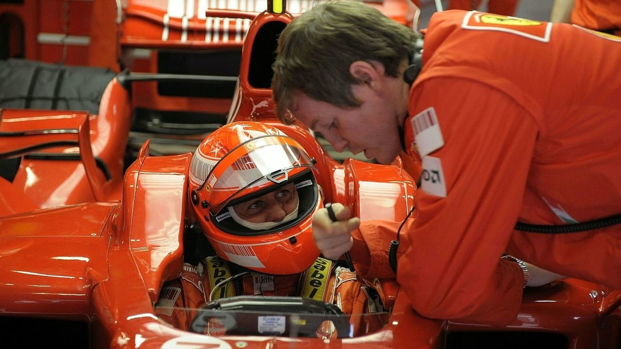 Michael Schumacher in Ferrari car