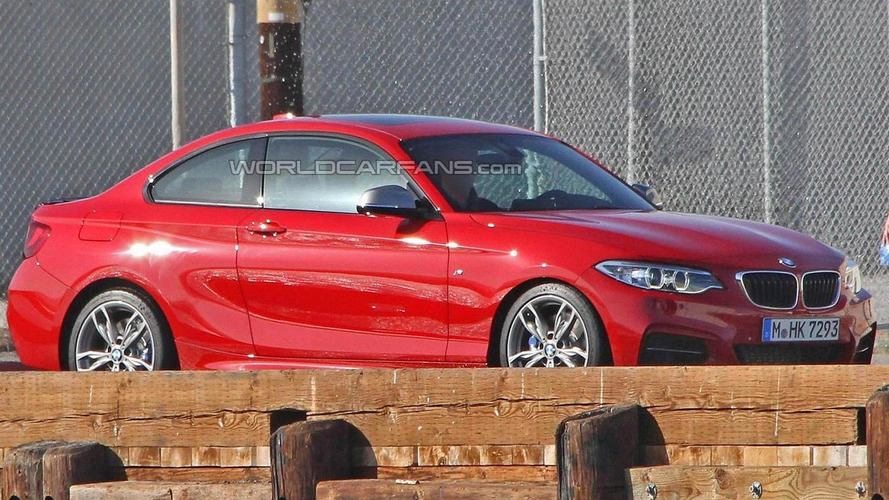 BMW M235i spied virtually undisguised during a photoshoot