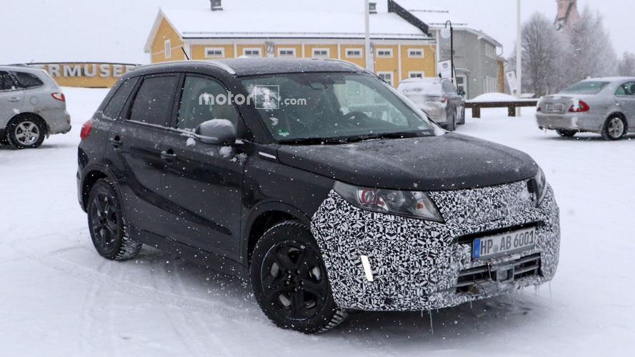Photos espion - Le Suzuki Vitara restylé se prépare sur la neige