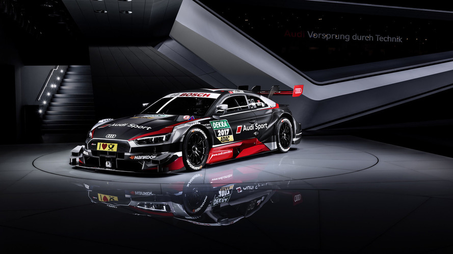 Audi RS5 DTM reveals its dark side under Geneva lights