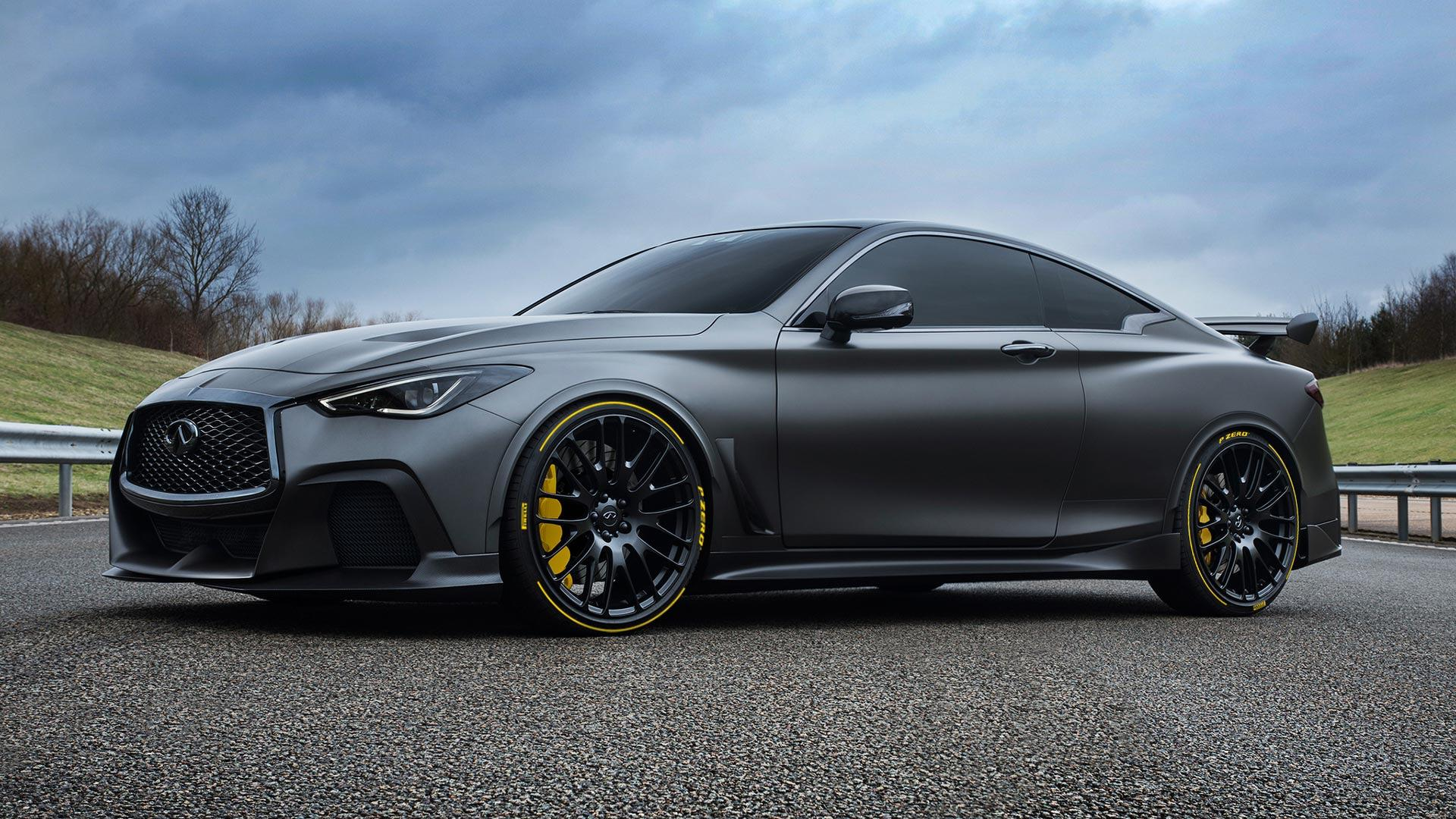 infiniti q60 project black s gets custom tires from pirelli. Black Bedroom Furniture Sets. Home Design Ideas