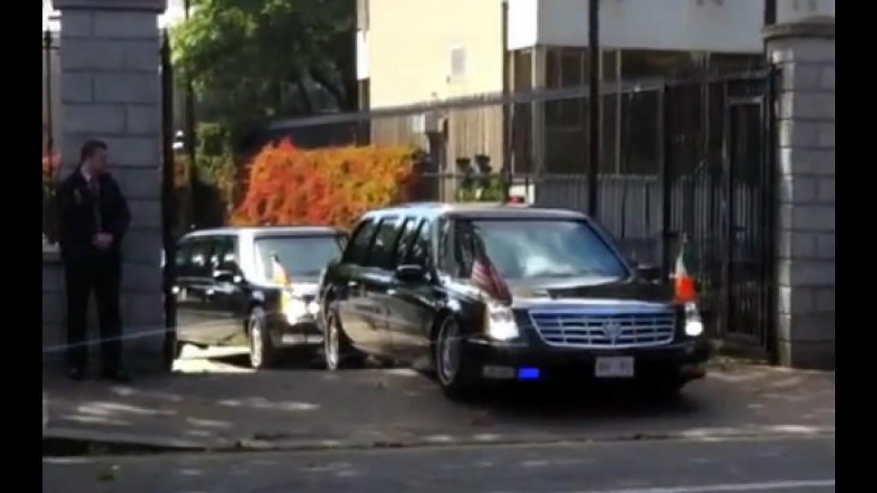#FAIL: Limusine do Presidente Barack Obama entala em rampa - Veja o vídeo