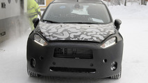 2013 Ford Fiesta facelift spied hiding a new front end