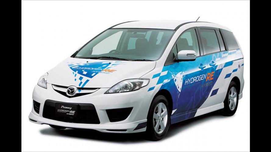 Mazda 5 Hydrogen RE Hybrid: Bivalent-Wankel plus E-Motor