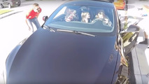 19 people stuffed into Tesla Model S