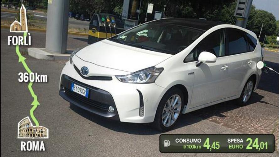 Toyota Prius+, la prova dei consumi reali