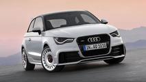 Audi A1 quattro driven rally style in Munich construction site [video]