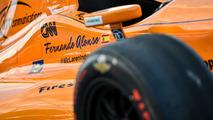 The car of Fernando Alonso, Andretti Autosport Honda