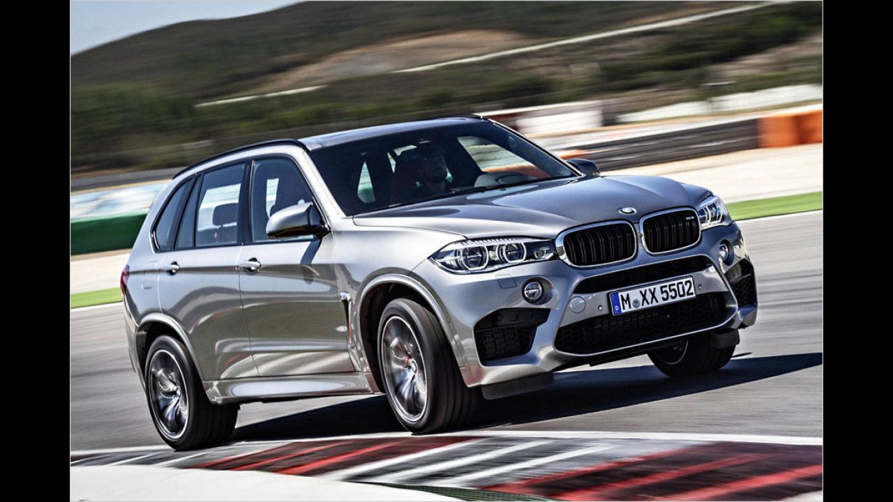 Platz 13: BMW X5 M (2.350 Kilo)