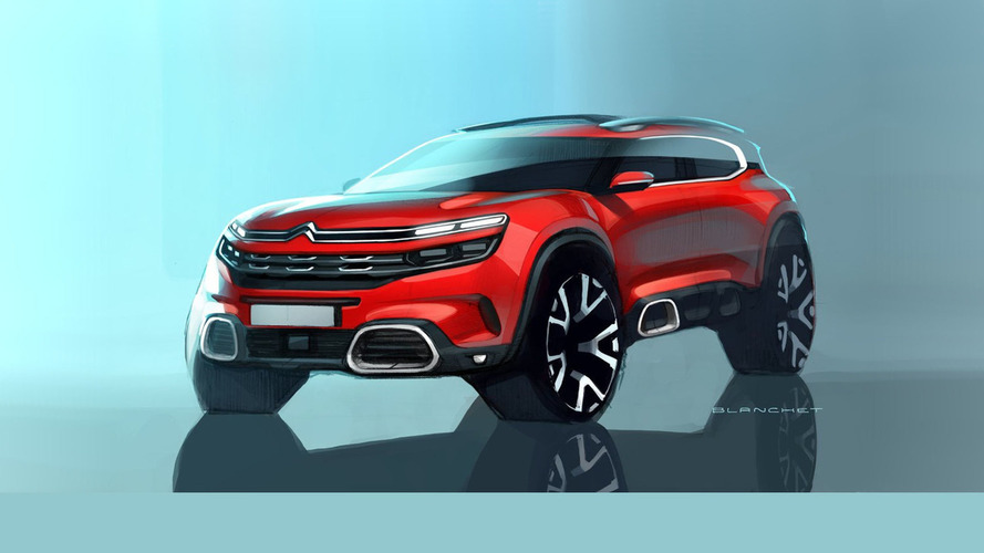 Citroen C5 Aircross teaser images