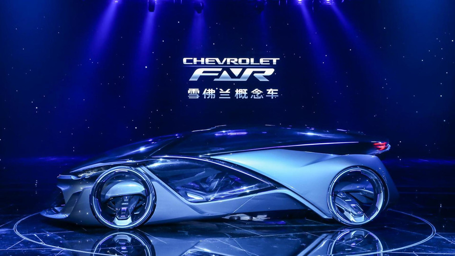 Chevrolet-FNR autonomous electric concept shows its futuristic body in Shanghai
