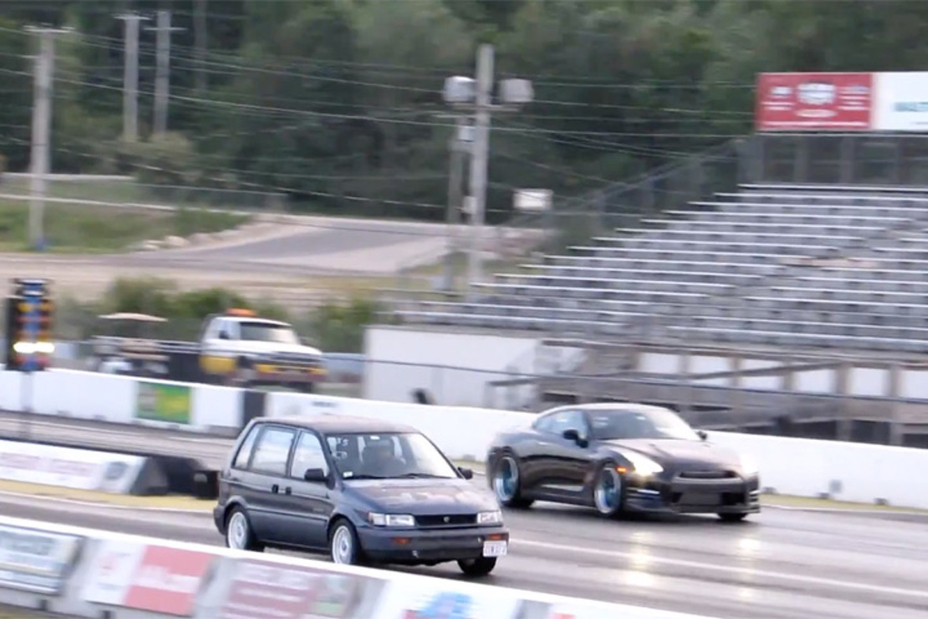 Watch This 450HP Minivan Embarrass a Nissan GT-R and Viper