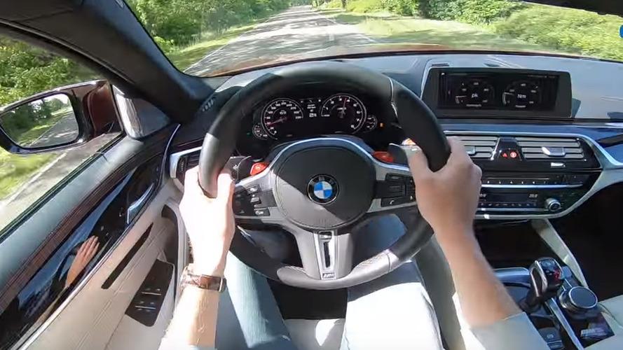 Sürücünün gözünden kaydedilen BMW M5 videosuna bir göz atın