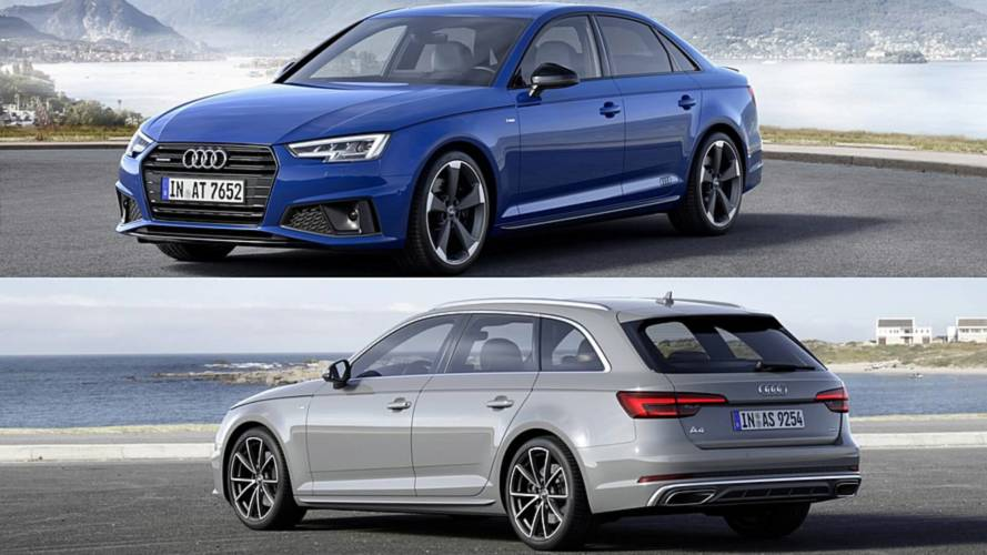 2019 audi a4 sedan avant unveiled in europe with discreet. Black Bedroom Furniture Sets. Home Design Ideas