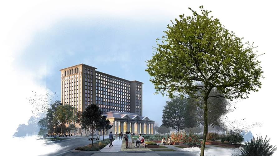 Ford Previews Revamped Michigan Central Station