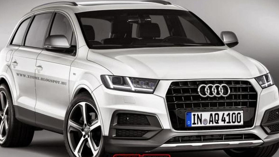 2015 Audi Q7 render shows plausible design evolution