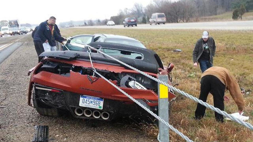 2015 Chevrolet Corvette Z06 Convertible crashes in Michigan