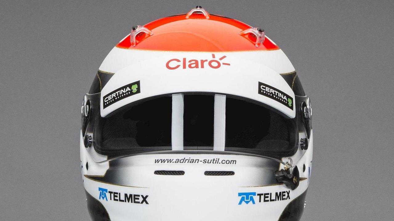 Adrian Sutil Sauber F1 Team 2014 helmet