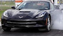 2014 Corvette Stingray hits the dragstrip 01.10.2013