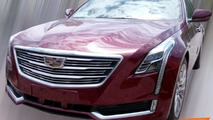 Cherry red Cadillac CT6 photographed in China