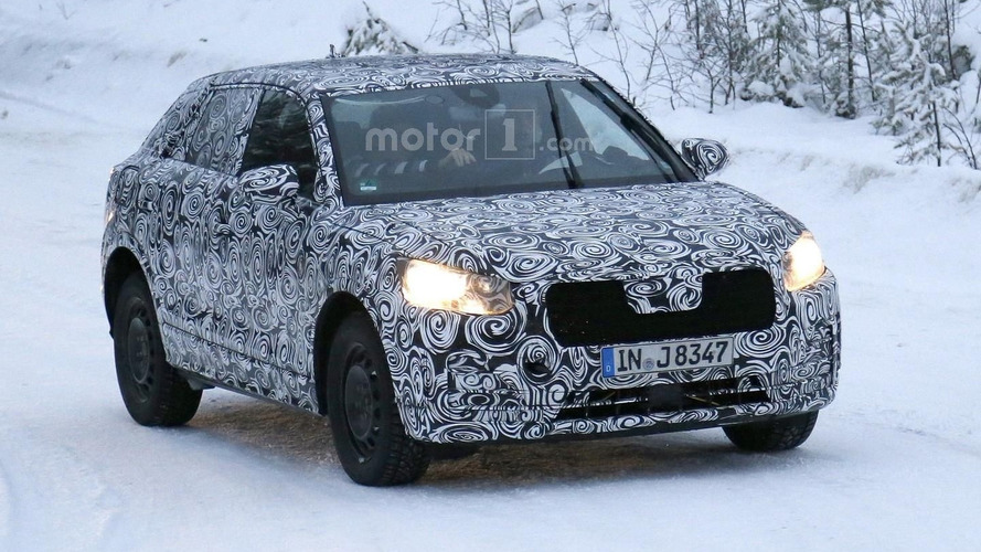 Audi Q2 baby crossover spotted winter testing