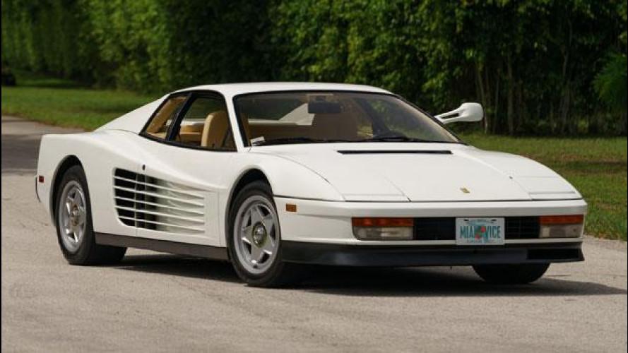 Ferrari Testarossa, all'asta quella di Miami Vice