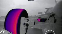 Sebastian Vettel Red Bull Racing RB9 floor detail of thermal imaging 04.10.2013 Korean Grand Prix