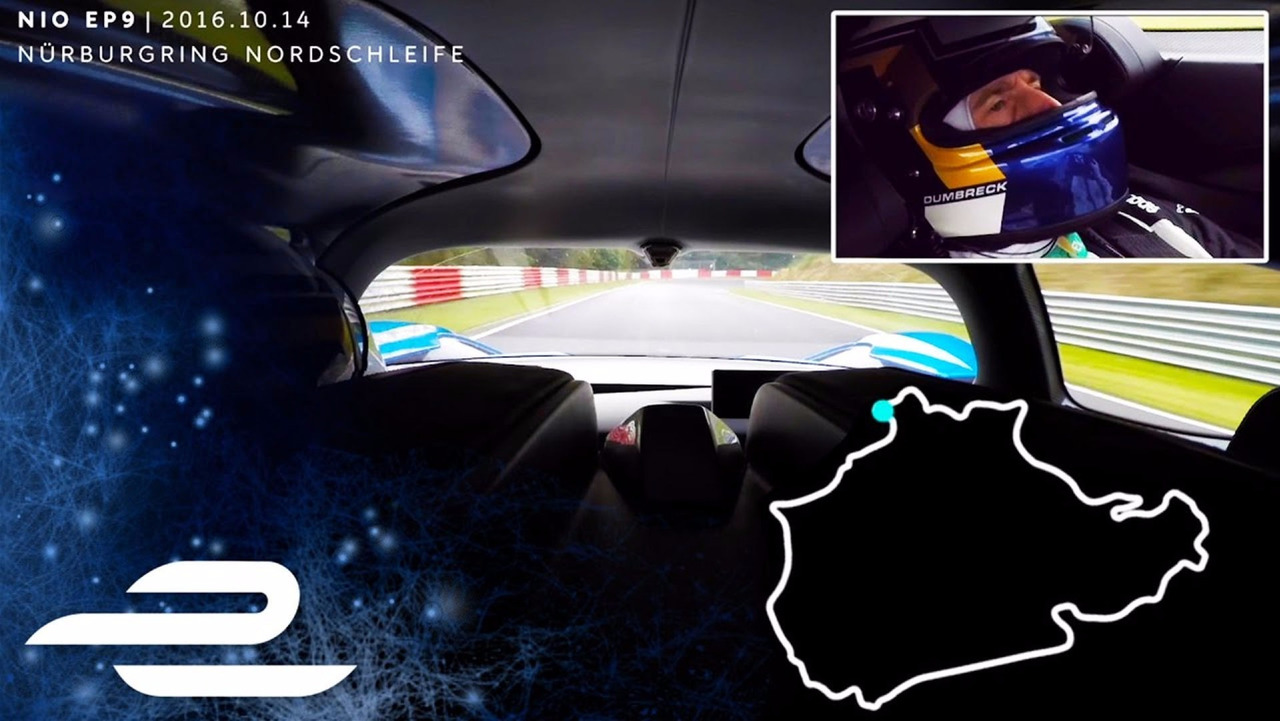 Nio EP9 Nurbirgring in-car