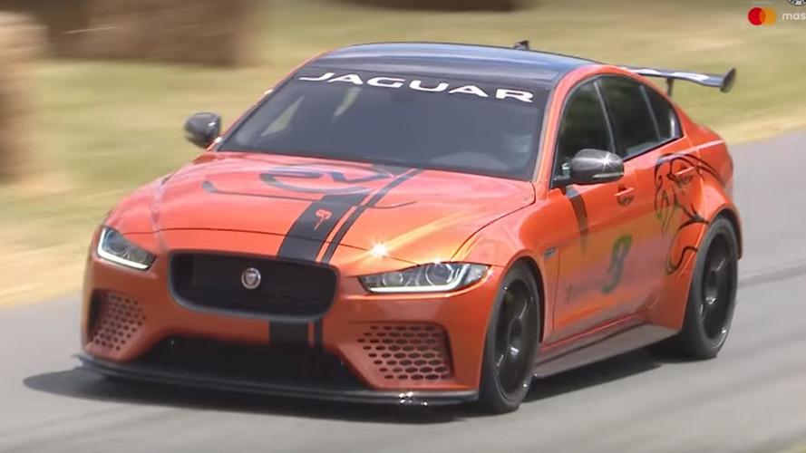 Jaguar'ın en güçlü yol otomobili Goodwood tırmanışında