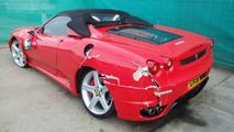 Fake Ferrari crash
