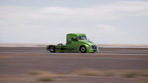 Volvo hybrid truck, Mean Green, sets new world speed records on April 27, 2012