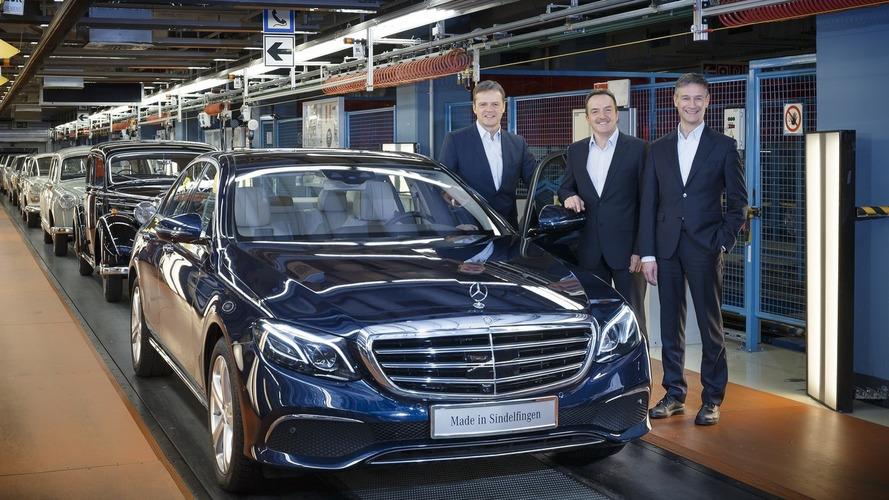 First 2016 Mercedes E Class rolls off production line