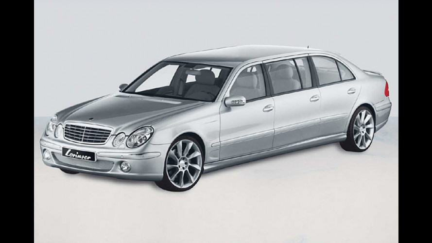 Langes E im Power-Dress: Stretch-Benz mit Lorinser-Tuning