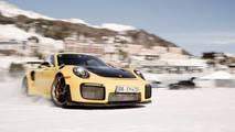 Porsche 911S ile GT2 RS'in Karlı Yollardaki Muhteşem Görüntüleri