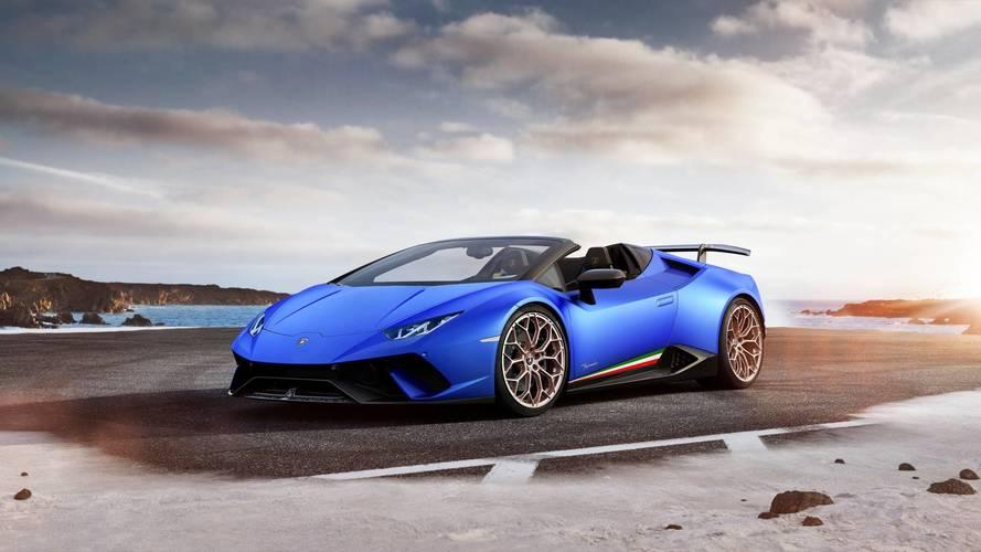 Lamborghini Huracan Performante Spyder tüm sertliği ile Cenevre'de