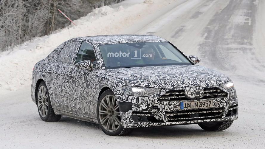 2018 Audi A8 spy photos