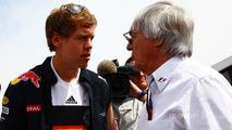 Bernie Ecclestone and Sebastian Vettel, Red Bull Racing
