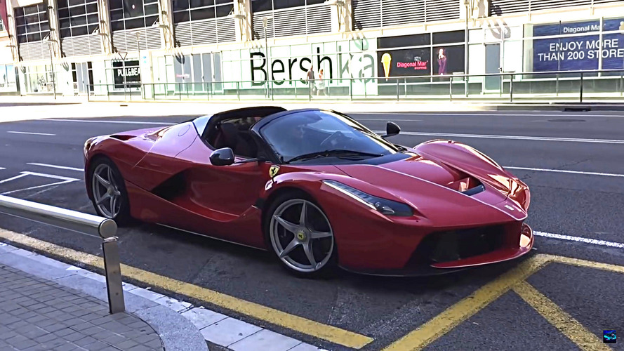 LaFerrari Aperta spotted up-close while filming promo in Barcelona
