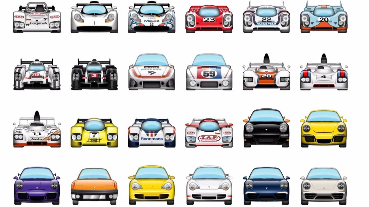 Une galerie d'emojis Porsche sur IOS