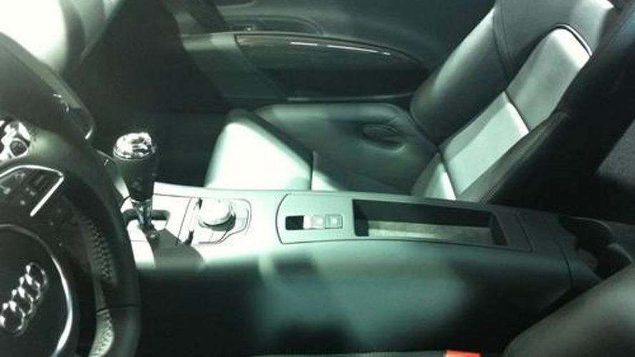 Audi R8 e-tron interior spied