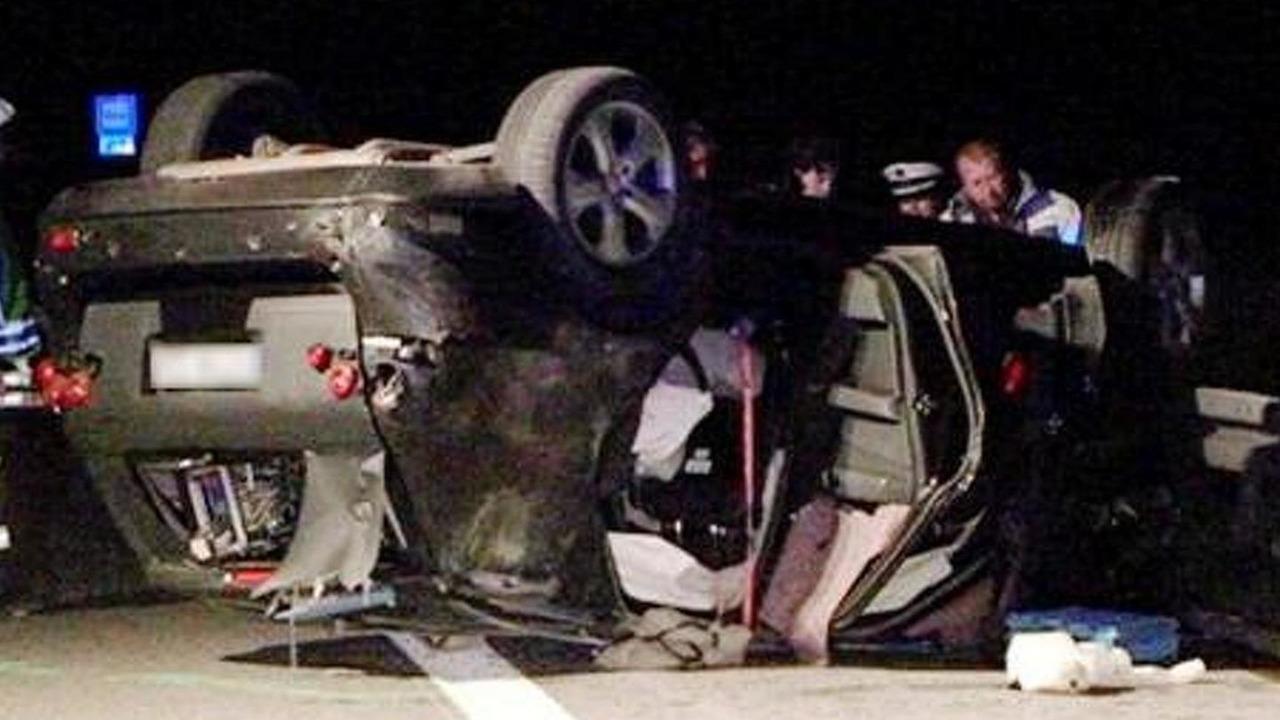 2012 Mercedes M-Class prototype crash on A81, Rottweil, Germany, 500, 27.04.2010